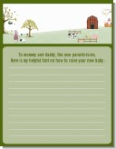 Nursery Rhyme - Baby Shower Notes of Advice