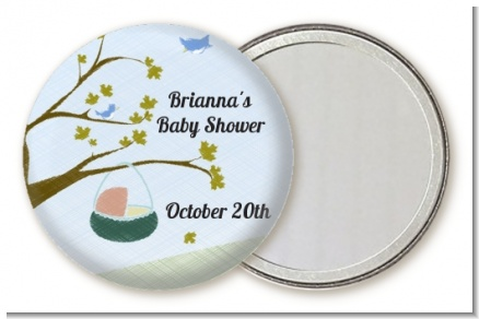 Nursery Rhyme - Rock a Bye Baby - Personalized Baby Shower Pocket Mirror Favors