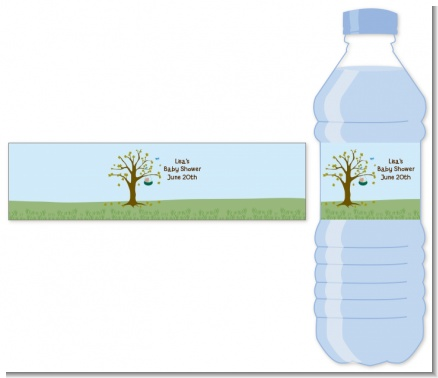 Nursery Rhyme - Rock a Bye Baby - Personalized Baby Shower Water Bottle Labels