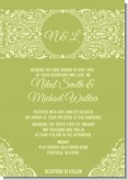 Sage Green - Bridal Shower Invitations