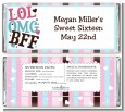 OMG LOL BFF Sweet 16 - Personalized Birthday Party Candy Bar Wrappers thumbnail
