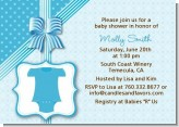 Baby Outfit Blue - Baby Shower Invitations