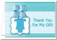 Baby Outfit Blue - Baby Shower Thank You Cards