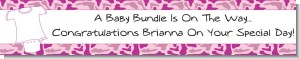 Baby Outfit Pink Camo - Personalized Baby Shower Banners