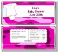 Baby Outfit Pink Camo - Personalized Baby Shower Candy Bar Wrappers thumbnail