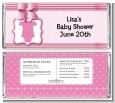 Baby Outfit Pink - Personalized Baby Shower Candy Bar Wrappers thumbnail