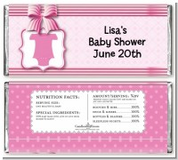 Baby Outfit Pink - Personalized Baby Shower Candy Bar Wrappers