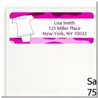 Baby Outfit Pink Camo - Baby Shower Return Address Labels