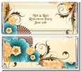 Orange & Blue Floral - Personalized Birthday Party Candy Bar Wrappers thumbnail
