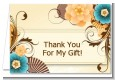Orange & Blue Floral - Birthday Party Thank You Cards thumbnail