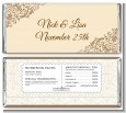 Beige & Brown - Personalized Bridal Shower Candy Bar Wrappers thumbnail