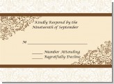 Beige & Brown - Bridal Shower Response Cards