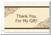 Beige & Brown - Bridal Shower Thank You Cards