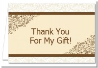 Beige & Brown - Bridal | Wedding Thank You Cards