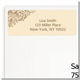 Beige & Brown - Bridal Shower Return Address Labels