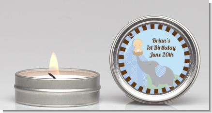 Our Little Boy Peanut's First - Birthday Party Candle Favors