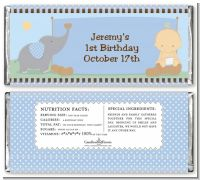Our Little Boy Peanut's First - Personalized Birthday Party Candy Bar Wrappers