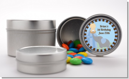 Our Little Boy Peanut's First - Custom Birthday Party Favor Tins