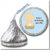 Our Little Boy Peanut's First - Hershey Kiss Birthday Party Sticker Labels
