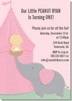 Our Little Girl Peanut's First - Birthday Party Invitations