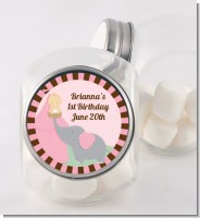Our Little Girl Peanut's First - Personalized Birthday Party Candy Jar