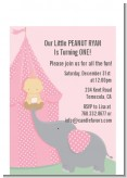 Our Little Girl Peanut's First - Birthday Party Petite Invitations