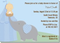 Our Little Peanut Boy - Baby Shower Invitations