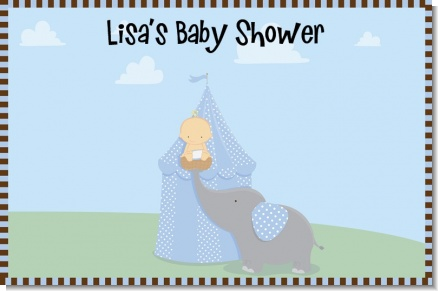 Our Little Peanut Boy - Personalized Baby Shower Placemats