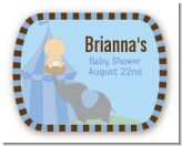 Our Little Peanut Boy - Personalized Baby Shower Rounded Corner Stickers