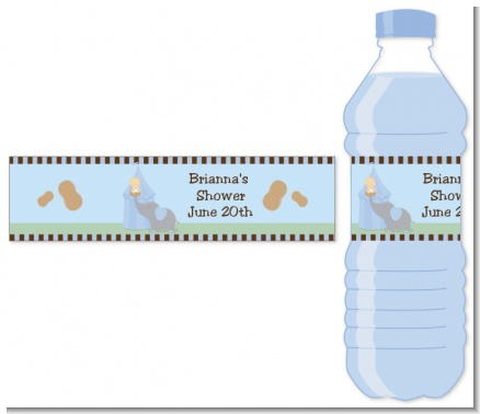 Our Little Peanut Boy - Personalized Baby Shower Water Bottle Labels