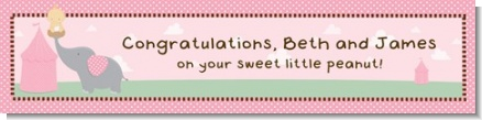 Our Little Peanut Girl - Personalized Baby Shower Banners