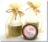 Our Little Peanut Girl - Baby Shower Gold Tin Candle Favors