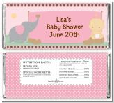 Our Little Peanut Girl - Personalized Baby Shower Candy Bar Wrappers