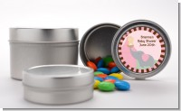 Our Little Peanut Girl - Custom Baby Shower Favor Tins