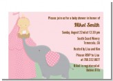 Our Little Peanut Girl - Baby Shower Petite Invitations