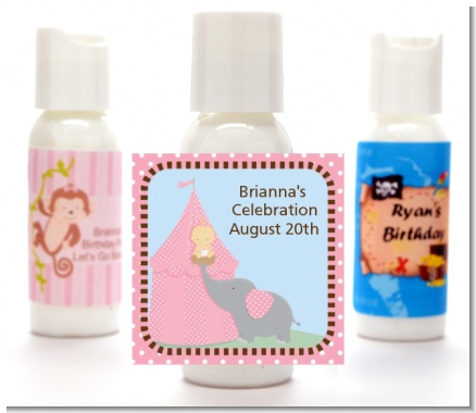 Our Little Peanut Girl - Personalized Baby Shower Lotion Favors