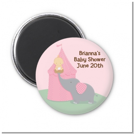 Our Little Peanut Girl - Personalized Baby Shower Magnet Favors