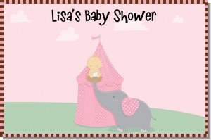 Our Little Peanut Girl - Personalized Baby Shower Placemats