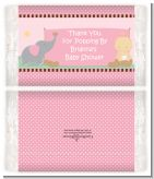 Our Little Peanut Girl - Personalized Popcorn Wrapper Baby Shower Favors
