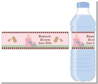 Our Little Peanut Girl - Personalized Baby Shower Water Bottle Labels