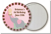Our Little Girl Peanut's First - Personalized Birthday Party Pocket Mirror Favors