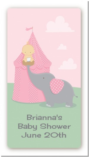 Our Little Peanut Girl - Custom Rectangle Baby Shower Sticker/Labels