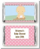 Our Little Peanut Girl - Personalized Baby Shower Mini Candy Bar Wrappers