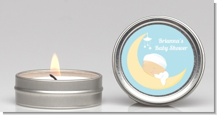 Over The Moon Boy - Baby Shower Candle Favors