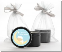 Over The Moon Boy - Baby Shower Black Candle Tin Favors