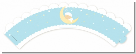 Over The Moon Boy - Baby Shower Cupcake Wrappers