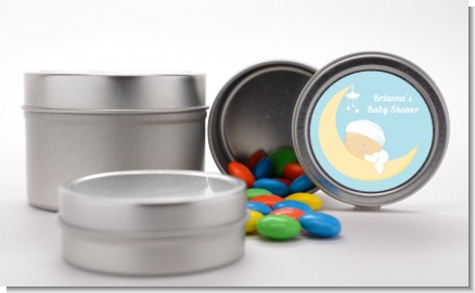 Over The Moon Boy - Custom Baby Shower Favor Tins