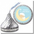Over The Moon Boy - Hershey Kiss Baby Shower Sticker Labels thumbnail