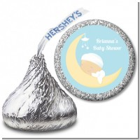 Over The Moon Boy - Hershey Kiss Baby Shower Sticker Labels