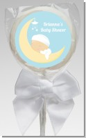 Over The Moon Boy - Personalized Baby Shower Lollipop Favors